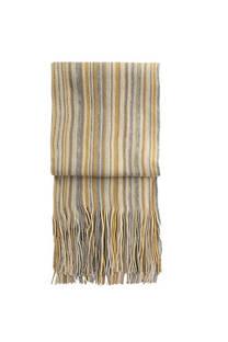 Nº 2 Bufanda de lana rayada con flecos premium de hombre.  Medidas: 200 cm x 20 cm / Peso: 150 gramos