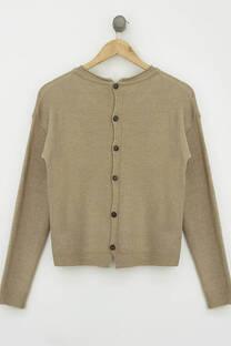 Sweater botones espalda -