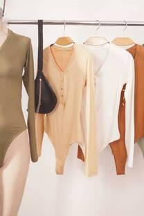 Body manga larga modal soft con boton -