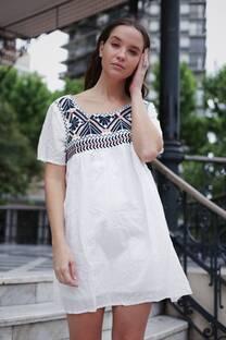 Vestido bordado MIKIN -