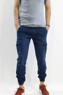 Pantalon Cargo Jean Blue