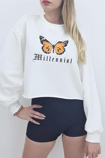 Buzo rustico estampa mariposa