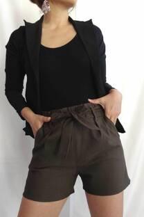 Shorts bengalina con lazo -