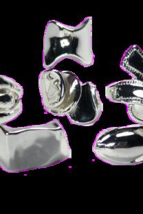 Caja De Anillos De Acero Blanco Con Forma X 12 U -