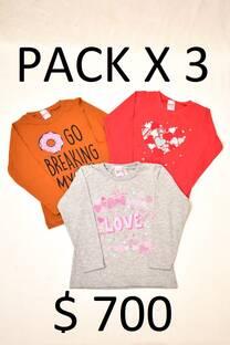 Pack x 3 remeras, oferta -