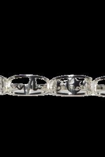 Anillos De Acero Blanco Con Forma X 36 U -