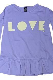 Remera vestido beba ml LOVE -