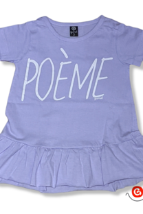 Remera vestido beba mc POEME -