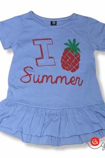 Remera vestido beba mc I SUMMER -