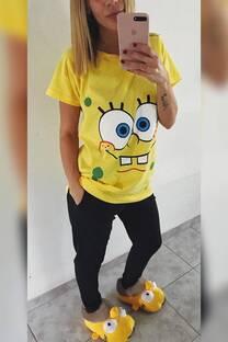 Pijama Bob esponja con remeron -