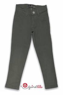 Pantalon nena chupin elastizado gabardina color -