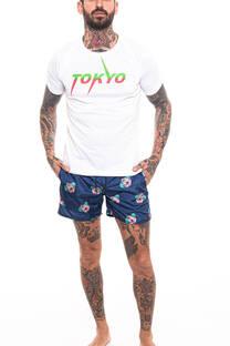Remera Estampada TOKYO Blanco -