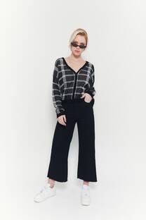 Culotte negro rigido clasico -