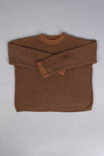 SWEATER CHENILLE MANGAS ANCHAS -