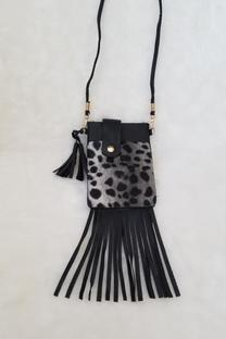 MONEDERO CON FLECOS ANIMAL PRINT -