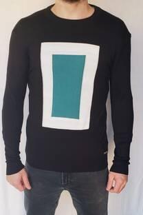 Sweater diseño cuadro -