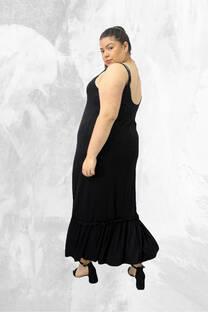 Vestido modal c/ volado -