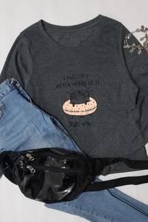 camiseta algodon c/ estampa -