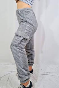 Pantalon cargo corderito -