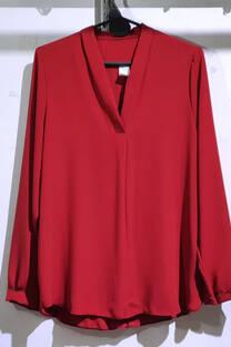 i9016 blusa cuello con pinza. liso .gasa crep -