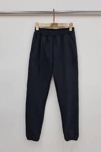 Pantalon frisa con elastico abajo -