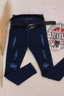 Jean Azul Con Rotura -