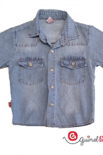 Camisa jean niño mc -