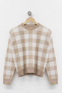 Sweater cuadrillé -