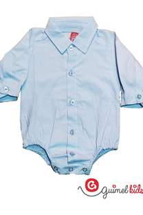 Body camisa mini bb poplin liso ml