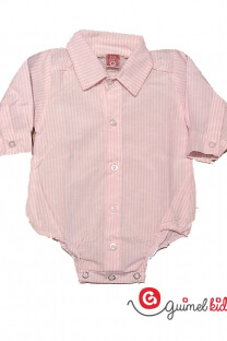 Body camisa mini beba rayado ml -