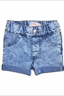 Short beba de jean elastizado lavado batik -