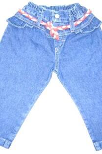 Pantalón beba jean con volados -
