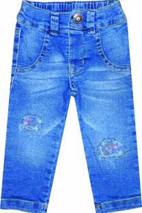 Pantalón beba jean con parches -