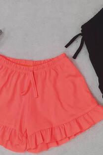 Shorts con volado liso -
