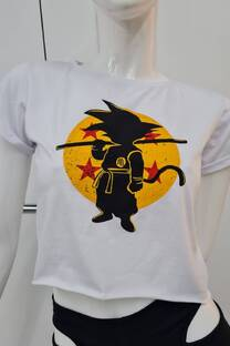 Remera m/c jersey c/atraque manga GOKU ESFERAS