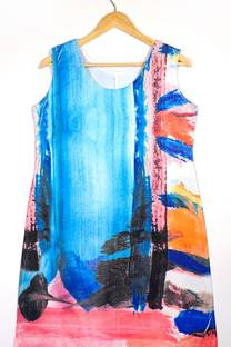 vestido sublimado de modal -