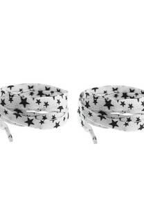 Cordón de zapatillas estampados estrellas.   -