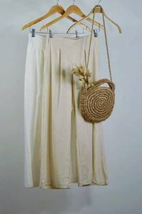 Pantalon palazo de lino spandex  -