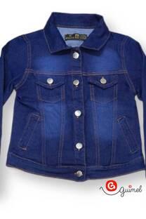 Campera nena jean elastizado azul osc -
