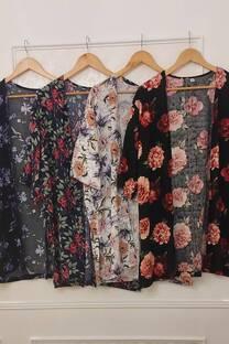 Kimono Dione De Fibrana Poplin Con Tajos A Los Costados -