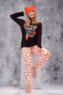 Pijama Remera y Pantalon Jersey Con Lycra -