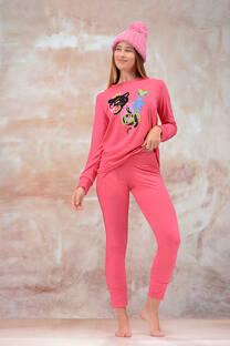 Pijama Remera y Pantalon Jersey Jaspeado -