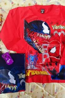 Camiseta Spider man estampa plastisol -