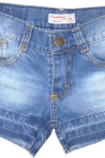 Short nena jean con bigotes -