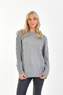 Sweater doble trenzas  -