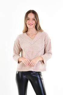 Sweater de chenille cuello V -