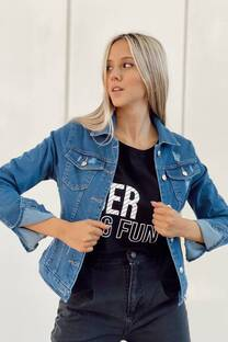 Campera Jeans Rotura -