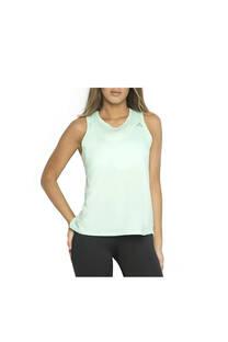 Musculosa con recorte, color verde.  Color: Verde Calce: Regular Composición: 90% poliester, 10% elastano. Recomendaciones de lavado: lavar con agua tibia, no planchar. -