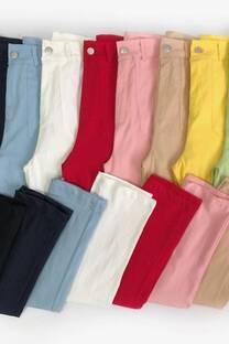 Pantalon bengalina recto c/bolsillos -