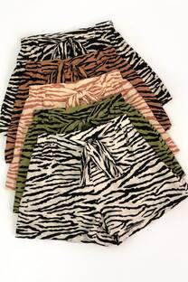 Short zebra fibrana con lazo -